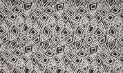 Jacquard Jersey Knit Fabric  Black & White