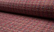 Tweed Coating Fabric  Red Multi