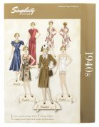 Simplicity Vintage Style Paper Dolls Kit