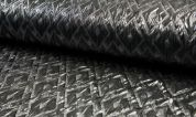 Textured Brocade Fabric  Silver Grey