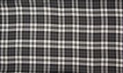 Viscose Check Fabric  Grey