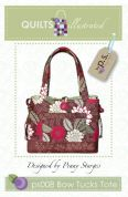 Quilts Illustrated Accessories Sewing Pattern Bow Tucks Tote Bag