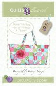 Quilts Illustrated Accessories Sewing Pattern City Zipper Tote Bag