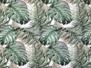 Digital Print Cotton Fabric  Green