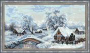 RIOLIS Counted Cross Stitch Kit Winter Village