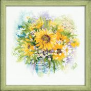 RIOLIS Counted Cross Stitch Kit Watercolour Sunflowers