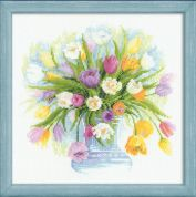 RIOLIS Counted Cross Stitch Kit Watercolour Tulips