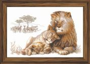 RIOLIS Counted Cross Stitch Kit Lions Paradise