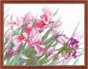 RIOLIS Counted Cross Stitch Kit Irises