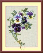 RIOLIS Counted Cross Stitch Kit Bunch of Pansies