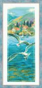 RIOLIS Counted Cross Stitch Kit Sunset Blue Sea