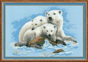 RIOLIS Counted Cross Stitch Kit Polar Bears