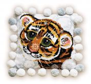 RIOLIS Counted Cross Stitch Kit Tiger Cub Cushion