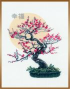 RIOLIS Counted Cross Stitch Kit Bonsai Sakura Wish of Well Being