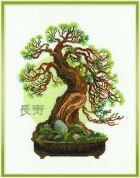 RIOLIS Counted Cross Stitch Kit Bonsai Pine Wish of Longevity