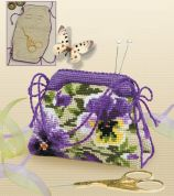 RIOLIS Counted Cross Stitch Kit Pansy Pincushion