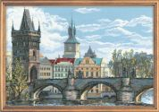 RIOLIS Counted Cross Stitch Kit Charles Bridge Prague