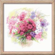 RIOLIS Counted Cross Stitch Kit Watercolour Phlox