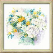 Riolis Counted Cross Stitch Kit Watercolour Peonies