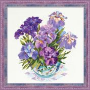 Riolis Counted Cross Stitch Kit Irises in Vase