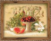 Riolis Counted Cross Stitch Kit Still Life With Sweet Cherries