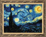 RIOLIS Counted Cross Stitch Kit Van Gogh Starry Night