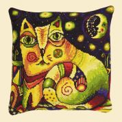 RIOLIS Counted Cross Stitch Kit Moon Road Cushion
