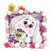 RIOLIS Counted Cross Stitch Kit Rabbit Cushion