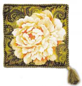 RIOLIS Counted Cross Stitch Kit White Peony Cushion