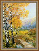 Riolis Counted Cross Stitch Kit The Birches