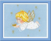 Riolis Counted Cross Stitch Kit Cherub with Heart