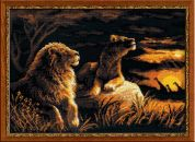 RIOLIS Counted Cross Stitch Kit Lions in the Savannah