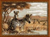 Riolis Counted Cross Stitch Kit Zebras in the Savannah