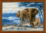 RIOLIS Counted Cross Stitch Kit Elephants in the Savannah