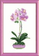 RIOLIS Counted Cross Stitch Kit Lilac Orchid