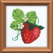 RIOLIS Counted Cross Stitch Kit Garden Strawberry