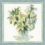 RIOLIS Counted Cross Stitch Kit White Lilies