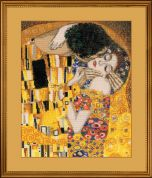 RIOLIS Counted Cross Stitch Kit G Klimt The Kiss 27.5cm x 32.5cm