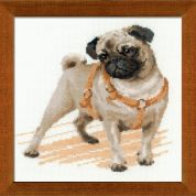 RIOLIS Counted Cross Stitch Kit Pug Dog