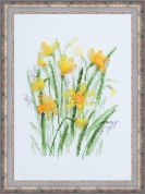 RIOLIS Counted Cross Stitch Kit Spring Narcissus