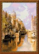 RIOLIS Counted Cross Stitch Kit Amsterdam after Klinkenbergs Painting