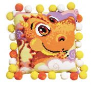 RIOLIS Counted Cross Stitch Kit Little Dragon Cushion