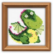 RIOLIS Counted Cross Stitch Kit Beaded Little Dragon