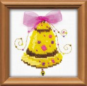 RIOLIS Counted Cross Stitch Kit Happy Bells Bead Kit