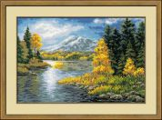 Riolis Counted Cross Stitch Kit Lake in the Mountains