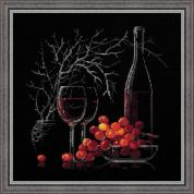 RIOLIS Counted Cross Stitch Kit Still Life with Red Wine