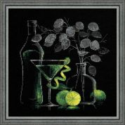 RIOLIS Counted Cross Stitch Kit Still Life with a Martini