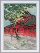 RIOLIS Counted Cross Stitch Kit Red Pagoda