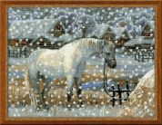 RIOLIS Counted Cross Stitch Kit Snowy Winter