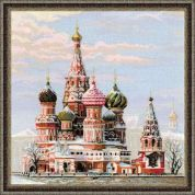 RIOLIS Counted Cross Stitch Kit St Basils Cathedral Moscow